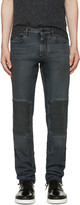 Belstaff Black Coated Overdyed Jeans