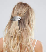 Orelia Silver Metal Leaf Thread Through Hair Pin