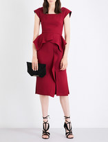Roland Mouret Sawleigh wool-crepe dress