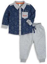 Petit Lem Baby Boys Robotic Shirt and Jogger Pants Set