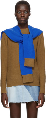 Sjyp Brown and Blue Layered Muffler Pullover