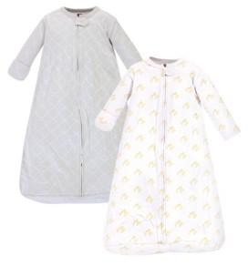 Hudson Baby Girl and Boy Duck Long-Sleeve Wearable Sleeping Bag Sack, Pack of 2