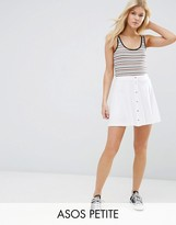 Asos Mini Skater Skirt with Poppers