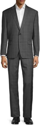 Lauren Ralph Lauren Standard-Fit Windowpane-Print Wool Suit