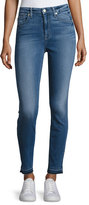 7 For All Mankind The High-Waist Ankle Skinny Jeans with Released Hem, B(Air) Sunset