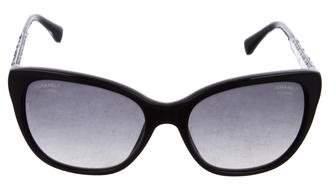 Chanel Polarized Crystal CC Sunglasses