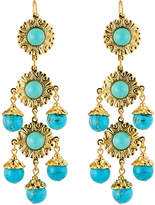 Jose & Maria Barrera Cabochon Linear Dangle Earrings, Turquoise