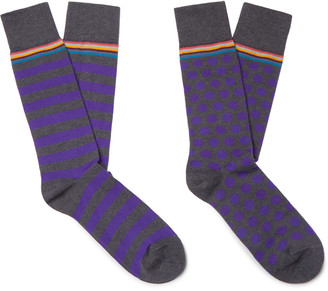 Paul Smith Two-Pack Cotton-Blend Socks