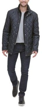 Cole Haan Men's Diamond Quilted Jacket with Knit Bib