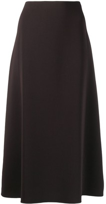 Theory Side-Zipped Midi Skirt