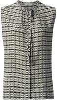 Etro sleeveless wavy print blouse