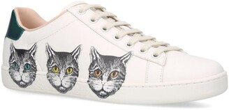 Gucci Leather Mystic Cat Ace Sneakers