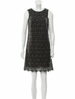 Dolce & Gabbana Floral Lace Mini Dress w/ Tags Grey