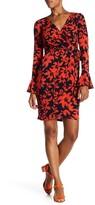 London Times Pozie Print Wrap Dress