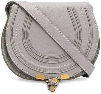 Chloé Grey Marcie Round Saddle Mini Bag