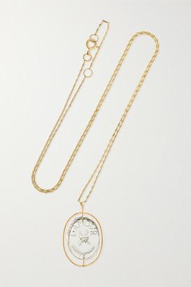 Pascale Monvoisin L'amour 9-karat Gold Crystal Necklace
