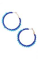 Rebecca Minkoff Women's Thread Beaded Hoop Earrings