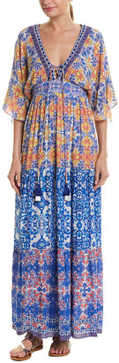 HEMANT AND NANDITA Vintage Tile Maxi Dress