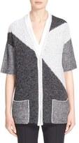 St. John Colorblock Knit Cardigan