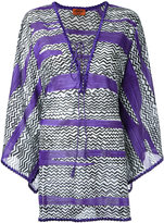 Missoni drawstring tunic top - women - Cotton - 38