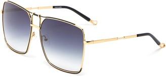 Matthew Williamson Square metal frame sunglasses