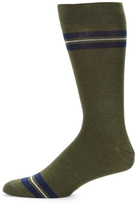 Saks Fifth Avenue COLLECTION Thin Middle Stripe Socks