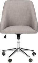 Safavieh Adrienne Linen Chrome Leg Swivel Office Chair