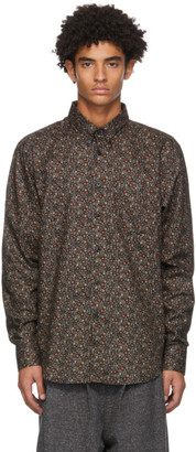 Naked and Famous Denim Black Vintage Flowers Easy Shirt