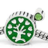 SEXY SPARKLES Family Tree with Rhinestones Charm Bead Fits Euorpean Snake Chain Charm Bracelet