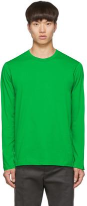 Comme des Garçons Shirt Green Logo Long Sleeve T-Shirt