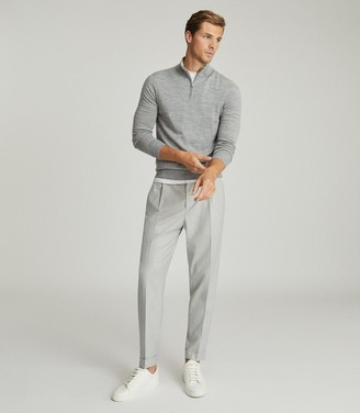 Reiss BRIGHTON PLEAT FRONT TROUSERS Soft Grey