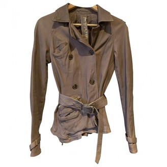 Patrizia Pepe Brown Leather Leather Jacket for Women