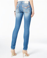 Miss Me Medium Wash Embellished Faux-Flap Skinny Jeans