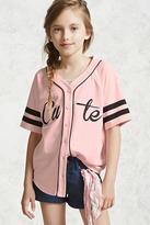 Forever 21 FOREVER 21+ Girls Baseball Jersey (Kids)