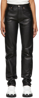 Acne Studios Black Bla Konst Leather Pants