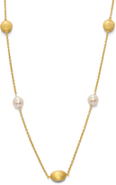 Tiara 8.5 mm White Pearl Yellow Gold-Plated Sterling Silver Necklace