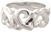 Tiffany & Co. Sterling Silver 925 Ring Band Piccaso Triple 3 Loving Heart