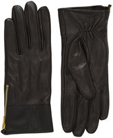 """Oasis LEATHER PATCHED GLOVES [span class=""""variation_color_heading""""]- Black[/span]"""