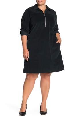 Lafayette 148 New York Bowie Corduroy Shirt Dress (Plus Size)