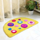 Edge To Carpet Cute Cartoon Thckened Sem-crcular Door Mats Bedroom Door Sldng Door Mats Bathroom Faucet Sucton Pad (mat * 2) ( Color : )