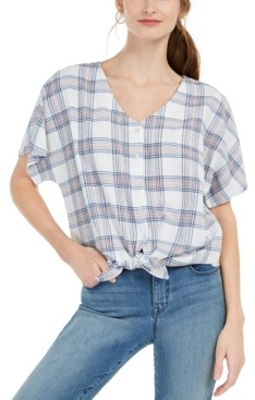 Style&Co. Style & Co Tie-Front Top, Created for Macy's