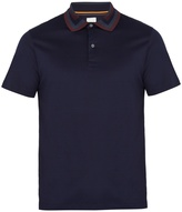 Paul Smith Striped-collar cotton-jersey polo shirt