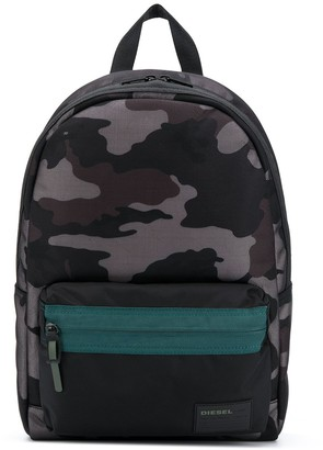 Diesel Mirano camouflage print backpack