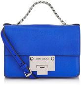 Jimmy Choo REBEL SOFT MINI Cobalt Soft Grained Goat Leather Mini Cross Body Bag
