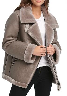 DKNY Oversized Faux Shearling Jacket