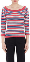 Philosophy di Alberta Ferretti WOMEN'S MIXED-STRIPE CROCHET SWEATER