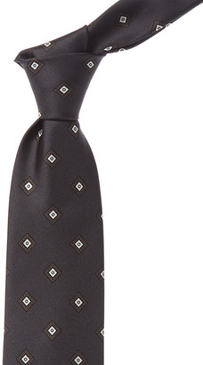 Brioni Grey Diamonds Silk Tie
