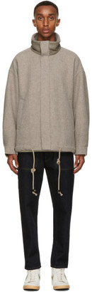 Nanushka Taupe Wool Hayden Jacket