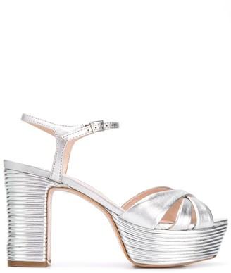 Schutz Metallic 105mm Platform Sandals