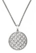 Effy Jewelry Effy 925 Silver Open Lattice Diamond Pendant, .15 TCW